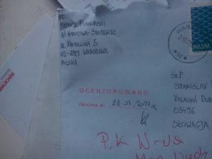 Politický väzeň a zároveň predseda strany Zmiana Piskorski napísal predsedovi Vzdoru-strany práce list: Odkazuje Slovákom, v Poľsku niet žiadnej demokracie